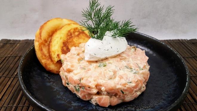 Tartare de saumon classique